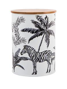 summerhouse-by-navigate-madagascar-canister-with-bamboo-lid-ndash-zebra