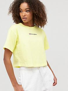 champion-crewneck-crop-t-shirt-yellownbsp