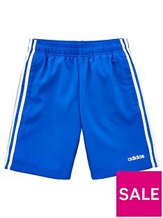 adidas-childrens-3-stripe-shorts-blue