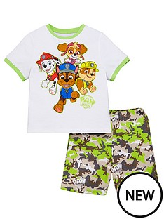 paw-patrol-boysnbspt-shirt-and-camo-short-pjs-multi