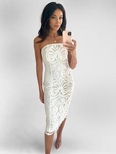 michelle-keegan-premium-lace-bandeau-midi-dress-ivory