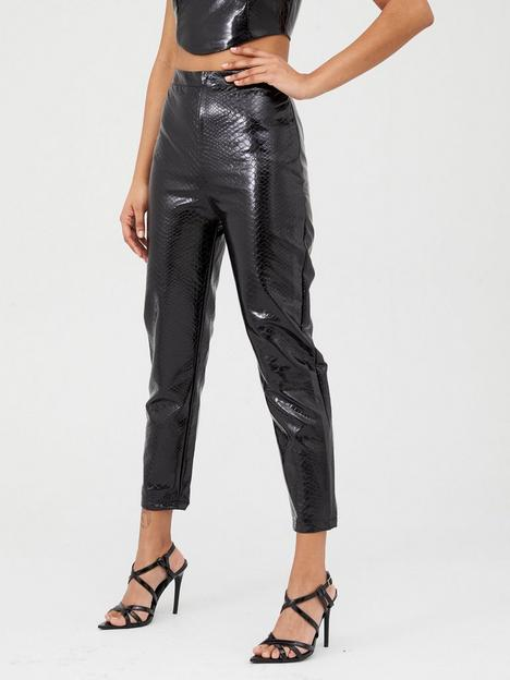 in-the-style-in-the-style-croc-pu-trousers-black