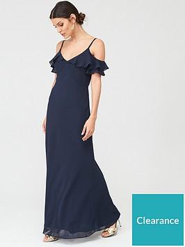 warehouse-warehouse-cold-shoulder-button-maxi-dress