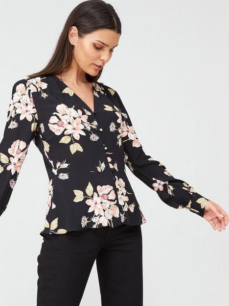 warehouse-sia-floral-printed-top-multi