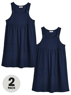 v-by-very-girls-2-pack-jersey-school-pinafore-navy