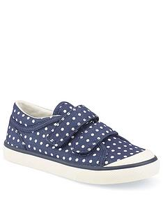start-rite-girls-bounce-canvas-strap-plimsoll