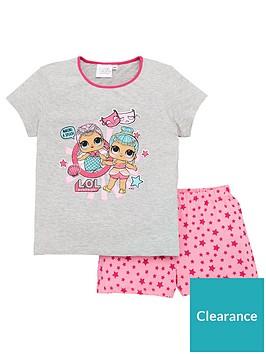 lol-surprise-girls-shorty-pjs-pink