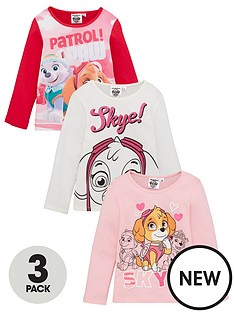 paw-patrol-girls-3-pack-long-sleeves-t-shirts-multi
