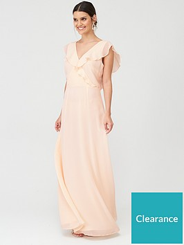 warehouse-frill-wrap-button-maxi-dress