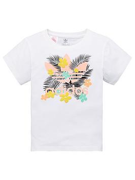 adidas-originals-childrens-floral-trefoil-short-sleeve-t-shirt-white