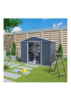 yardmaster-10-xnbsp8nbspfeet-castleton-apex-roof-metal-shed