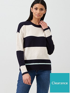 oasis-block-stripe-perfect-crew-jumper-navynbsp