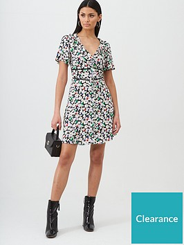 oasis-button-through-frill-skater-dress-ditsy-print