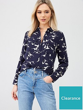 oasis-shadow-bird-shirt-multi-blue