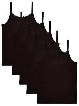 v-by-very-girls-5-pack-strappy-school-vests-black