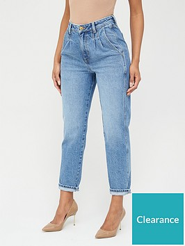 v-by-very-high-waisted-pleat-top-mom-jeansnbsp--mid-wash