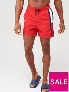 tommy-hilfiger-side-flag-swimshort-red