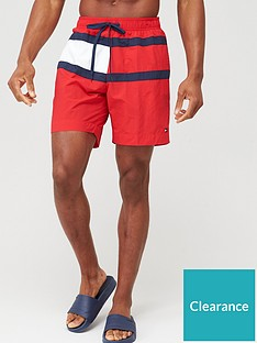 tommy-hilfiger-longer-length-swimshort-red