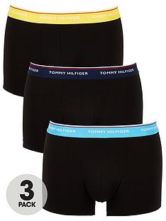 tommy-hilfiger-3-pack-contrast-waistband-trunks-black