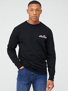 ellesse-fierro-embroidered-sweatshirt-black