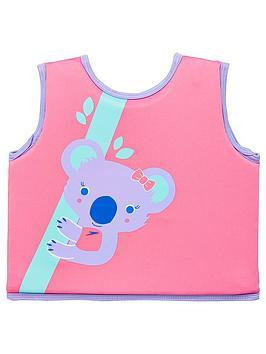 speedo-toddler-girl-koala-printed-float-vest-pinkpurple