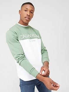 calvin-klein-jeans-colourblock-logo-sweatshirt-granite-green