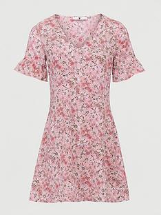v-by-very-printed-tea-dress-pink-daisy-print