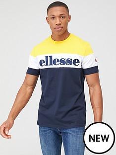 ellesse-punto-t-shirt-navyyellow