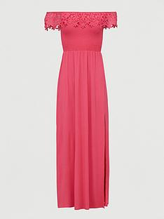 v-by-very-broderie-trim-bardot-maxi-dress-pink