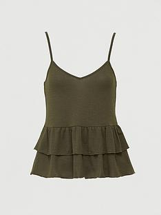 v-by-very-co-ord-ruffle-hem-cami-khaki