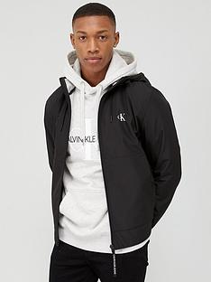 calvin-klein-jeans-jersey-lined-hooded-jacket-black