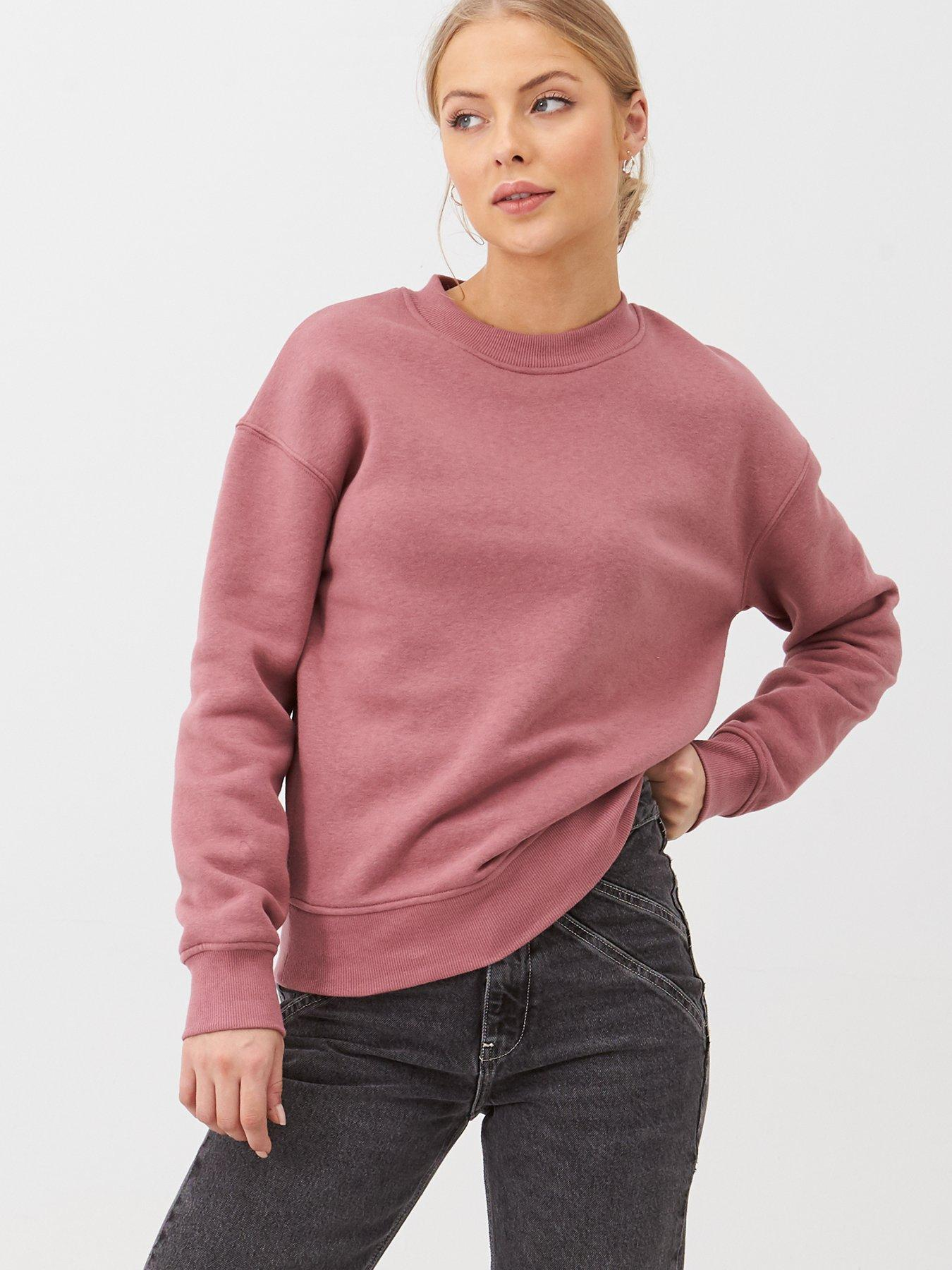 Girls Oversized L.A Sweat Top in Blush Pink Size 9-12 Years rrp £24 Pink Jumper