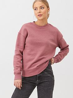 v-by-very-the-essential-oversized-basic-sweat-pink