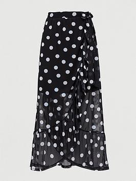 v-by-very-mesh-wrap-midi-skirt-polka-dot