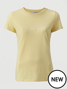 v-by-very-make-today-count-t-shirt-yellow
