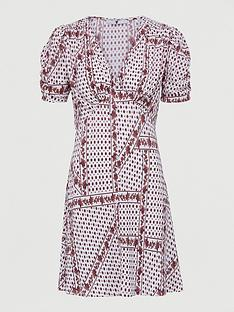 v-by-very-plisse-mini-button-through-dress-white-paisley