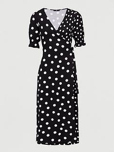 v-by-very-printed-wrap-midaxi-dress-polka-dot
