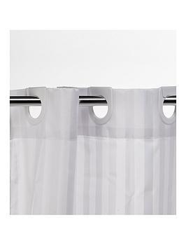 croydex-white-regency-stripe-hook-n-hang-shower-curtain