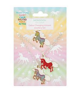 monsoon-girls-colour-change-unicorn-necklace-bracelet-ring-set-multi