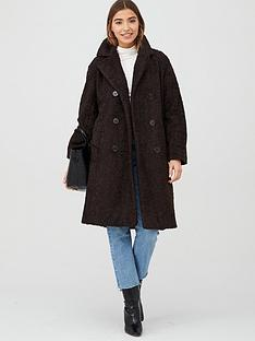 warehouse-teddy-double-faux-fur-coat-chocolate