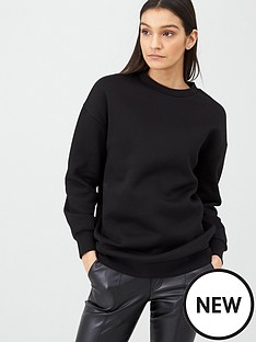 v-by-very-long-line-crew-neck-sweat-top-black