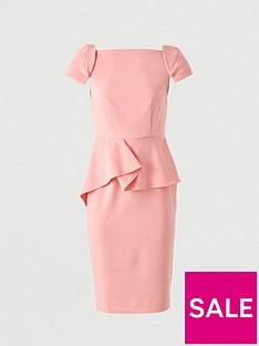 prod1089494006: Peplum Waist Structured Mini Dress – Pink