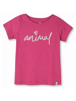 animal-girls-script-short-sleeve-graphic-t-shirt-pink