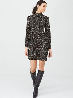 v-by-very-turtleneck-shift-mini-dress-daisy-print