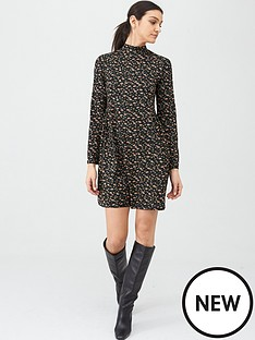 v-by-very-turtleneck-shift-mini-dress-daisy-print