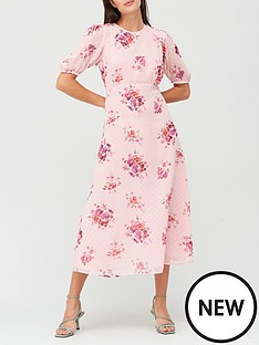 v-by-very-puff-sleeve-dobbynbspmidi-dress-floral