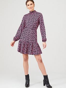 v-by-very-high-neck-blouson-mini-dress