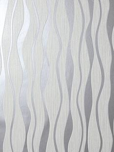arthouse-white-metallic-wave-wallpaper