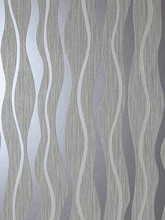 arthouse-grey-metallic-wave-wallpaper