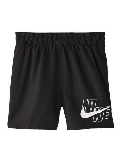 nike-boys-4-inch-logo-solid-volley-swim-shorts-black